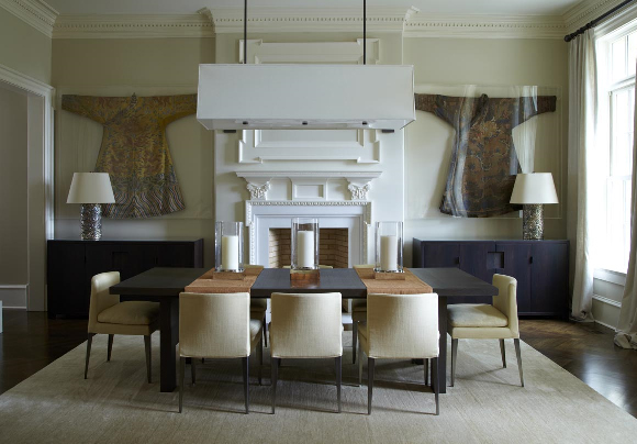 Randall mill residence musso design group for Asian themed dining room ideas